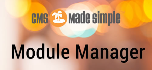 CMS Made Simple Module Manager